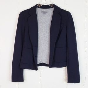 Vince | Navy & Grey Double Button Jersey Blazer